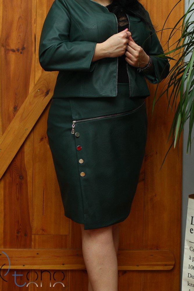 Zielona Spódnica DESMA Eko Skóra Midi