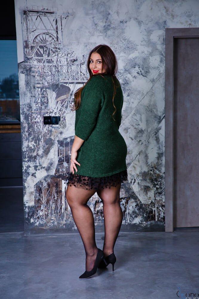 Zielona Sukienka ANDER  Plus Size