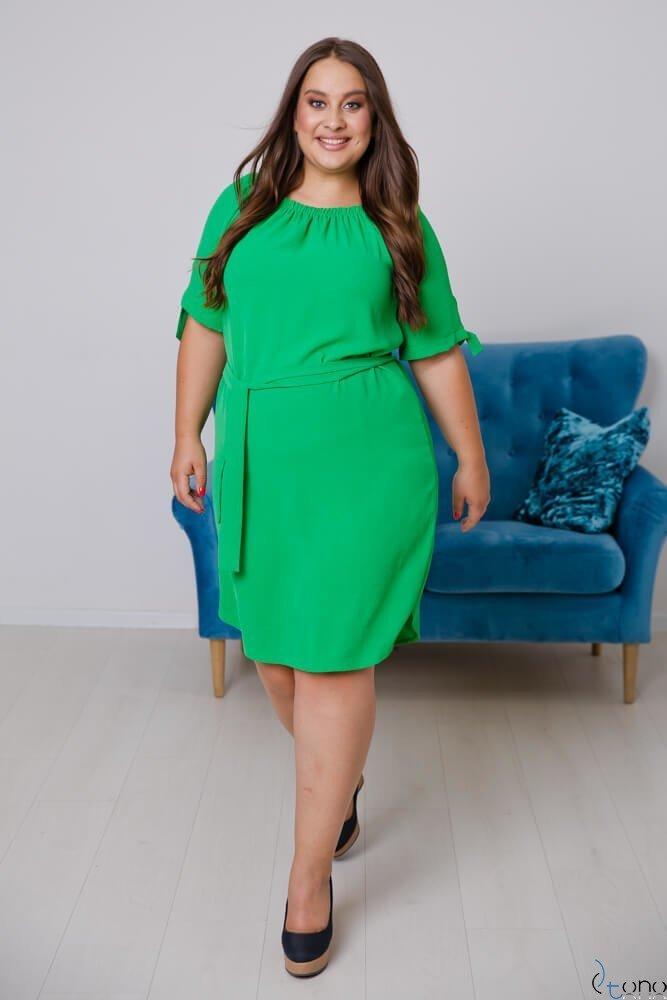 Zielona Sukienka NEFRITTA Plus Size
