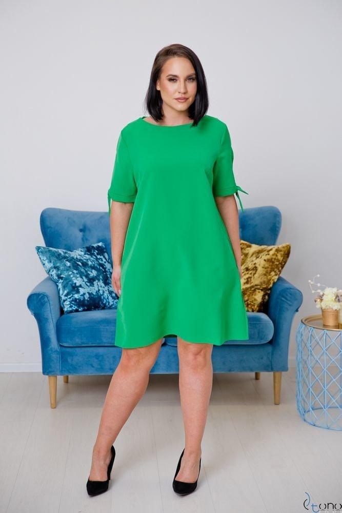 Zielona Sukienka SAFANA Plus Size