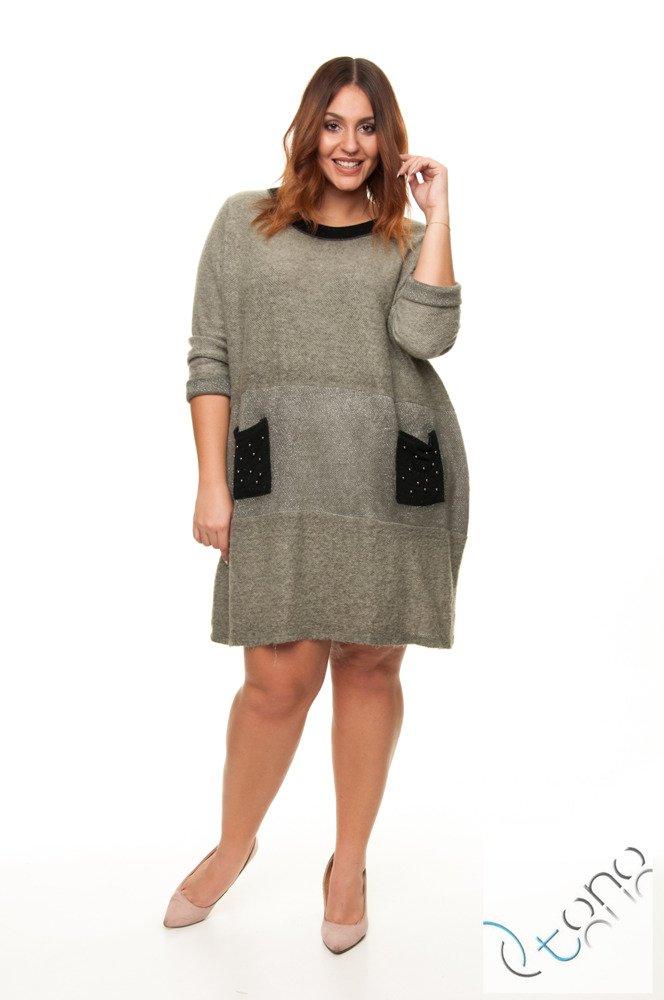 Zielona Sukienka SANTORIA Size Plus Ciepła