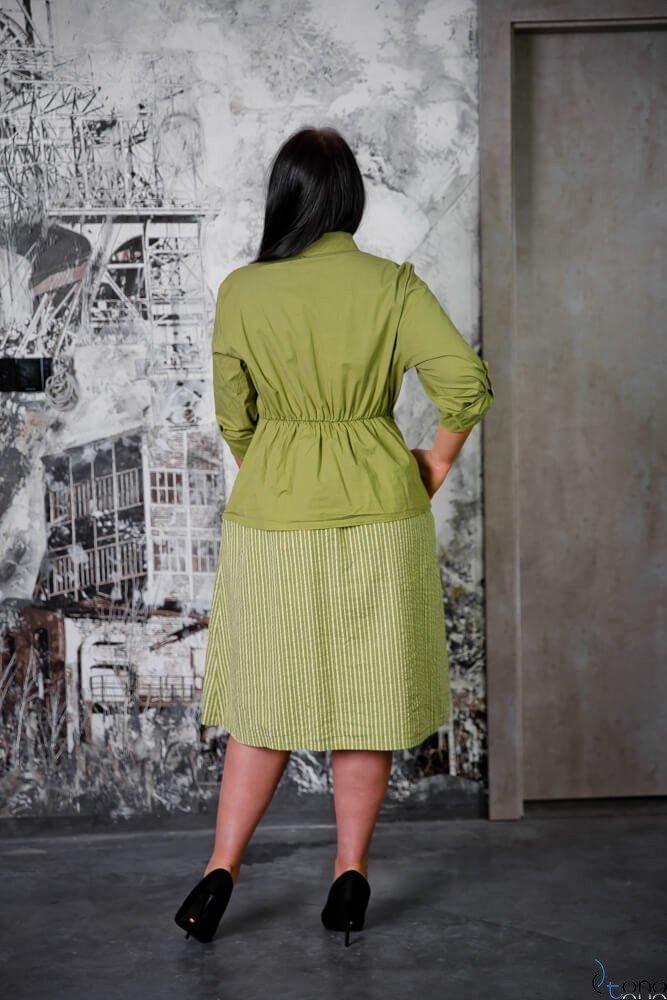 Zielona Sukienka SAVANA Plus Size