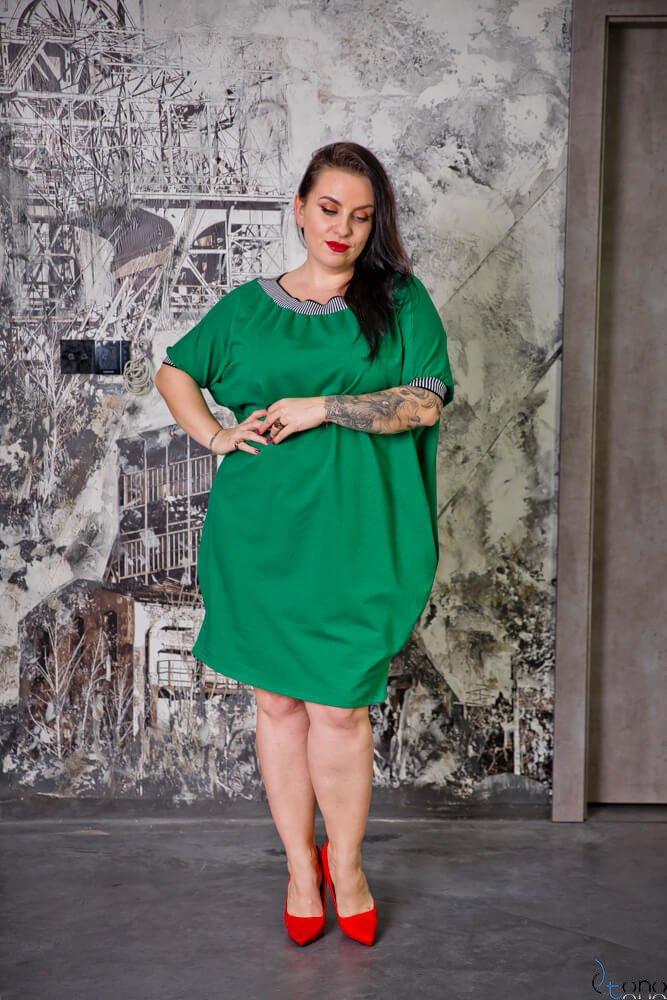 Zielona Sukienka SEPPI Plus Size