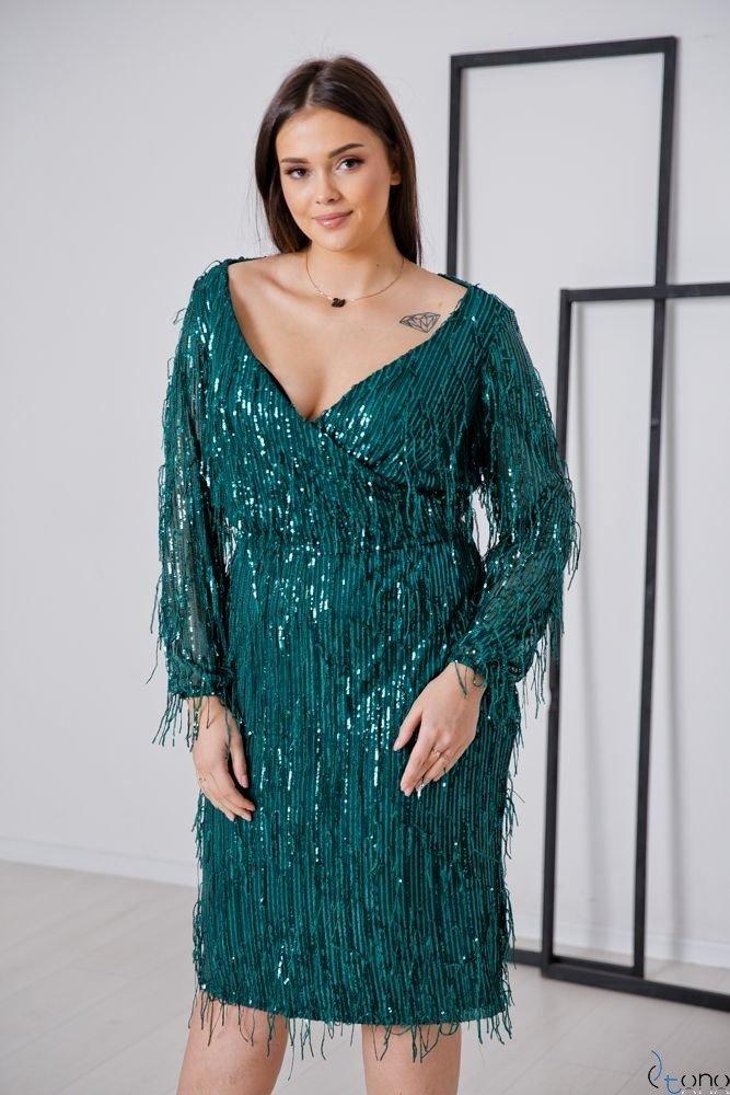 Zielona Sukienka VELOSA Plus Size