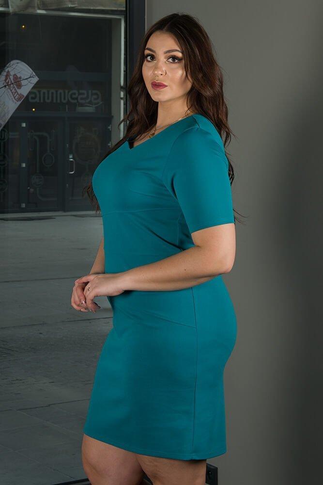 Zielona sukienka damska BAUTISTA Plus Size