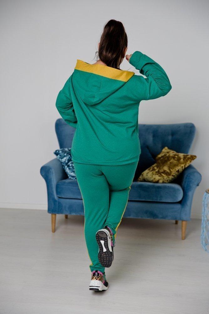 Zielono-żółty Dres VASANTA Plus Size
