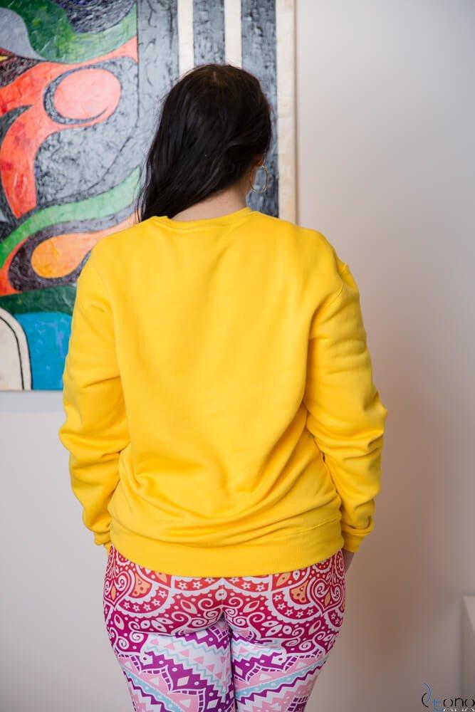 Żółta Bluza BUGGIE Plus Size