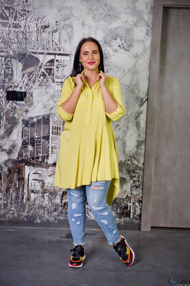 Żółta Bluzka CODINA Plus Size