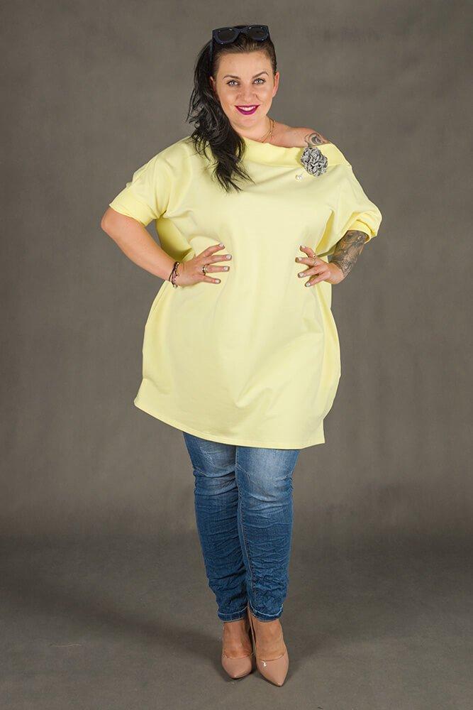 Żółta Tunika WEST Plus Size